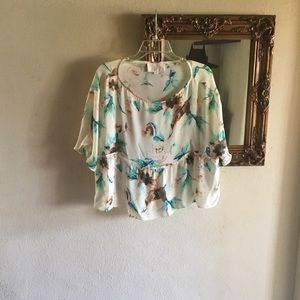 Stone cold fox floral blouse in medium